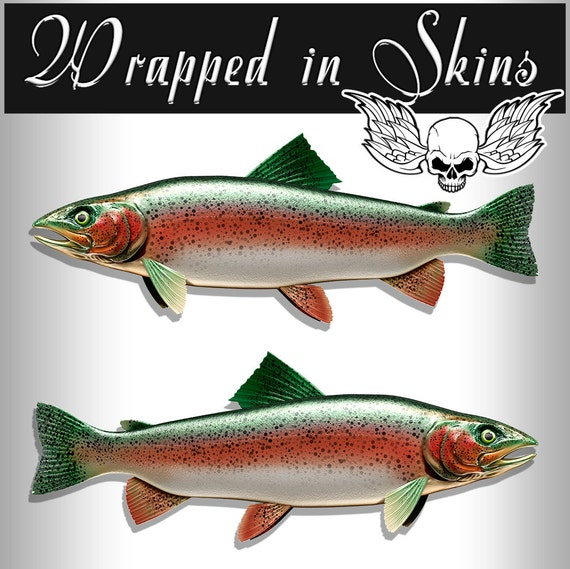 Trout Decals Fish Stickers Tackle Box RV Truck Trailer Camping AFP-0098