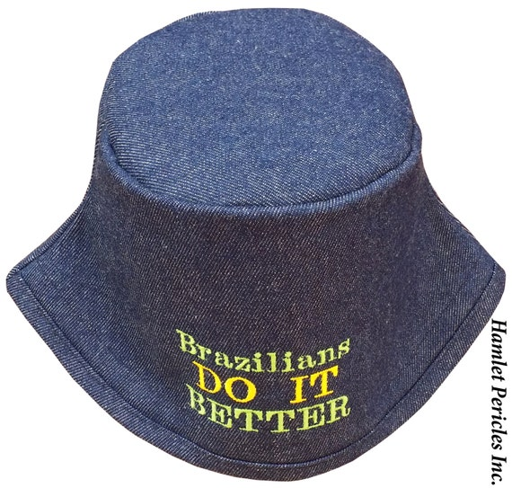 bd2bc1cee2cf9 Blue Denim Unisex Bucket Hat Brazilians Do It Better