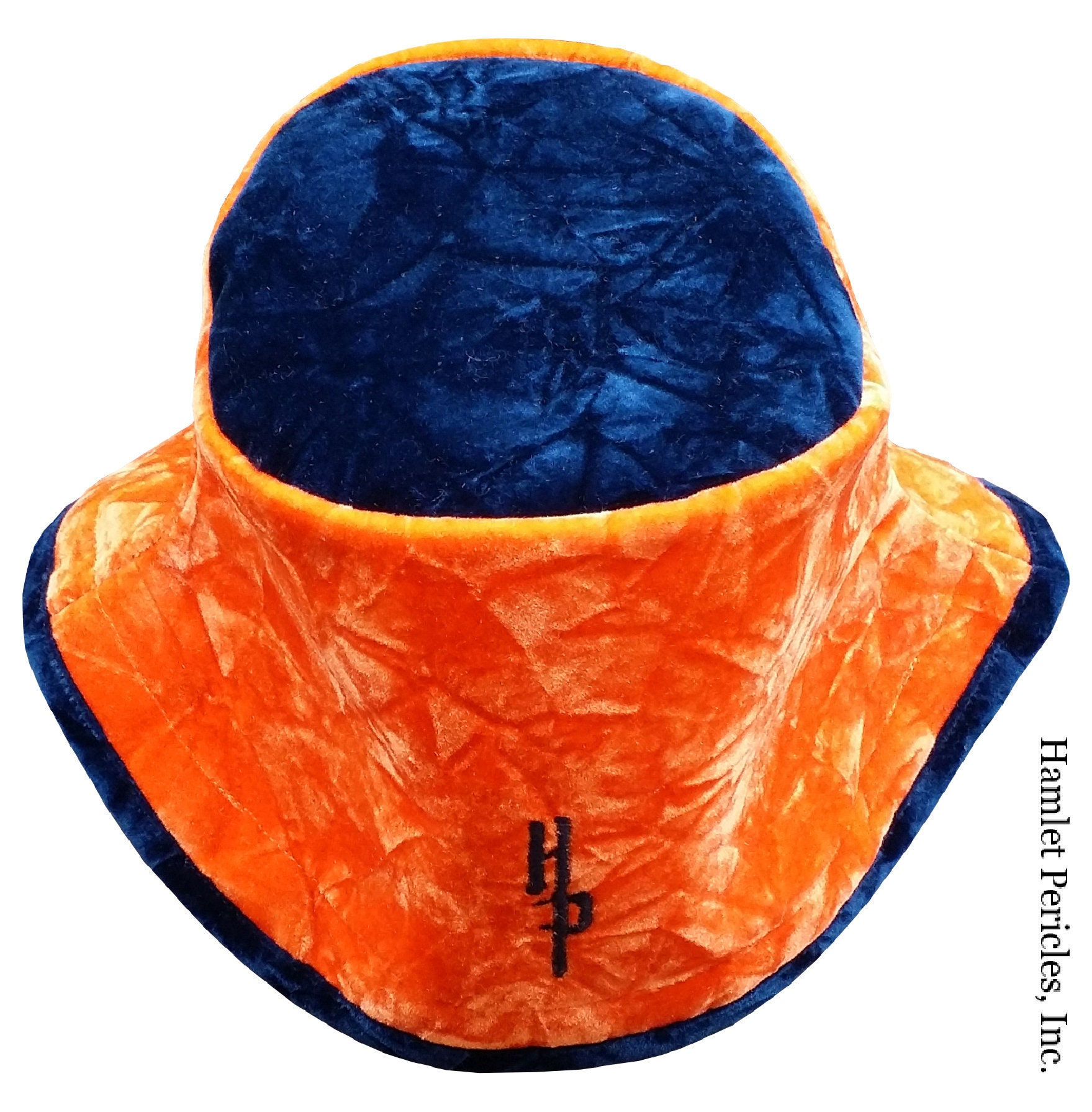 ebad0f943dd Orange Blue Crushed Velvet Unisex Bucket Hat Plush Hat