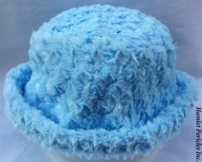 cfb29bab81069 Baby Blue Faux Fur Unisex Bucket Hat Sky Blue Faux Fur Hat | Etsy