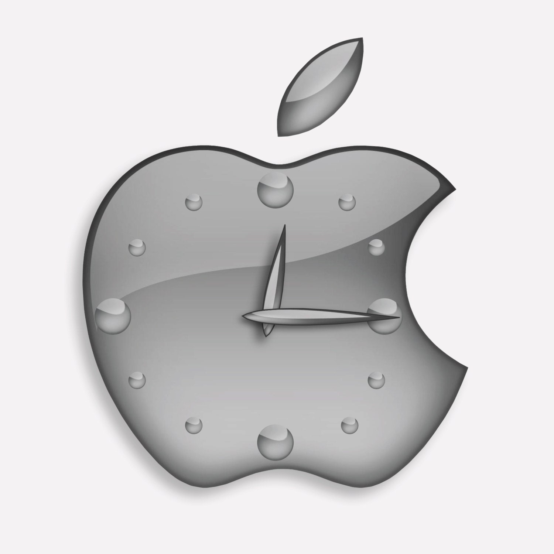 Apple Design Icon Wall Clock Gift Etsy