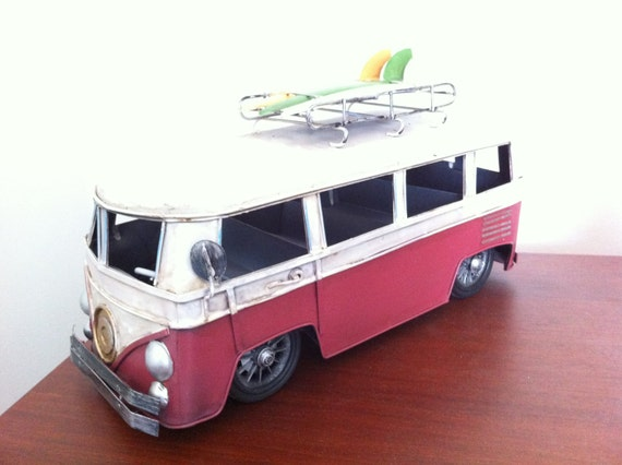 VW Volkswagen Split Screen Kombi Bus Campervan Canadian Flag Blank Greeting Card
