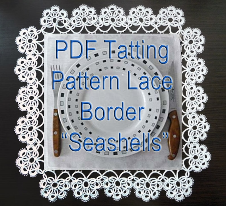 needle tatting pattern PDF tatting pattern lace border Seashells
