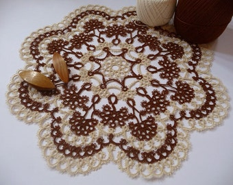 Handcrafted lace doily Hanmade doily stunning wife gift for her  New Home Gift for mom for grandma 13 Wedding Gift  family Easter gift