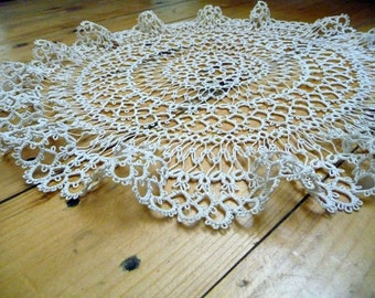 Tatting lace Doily Housewarming Anniversary Gift for grandma for Her Family Heirloom family Easter gift Table Decor mothers Day frivolite
