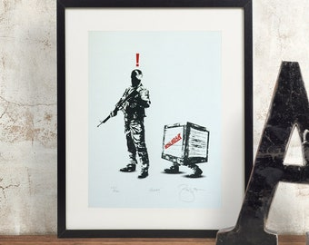 Metal Gear Solid Alert Hand Pulled Limited Edition Screen Print