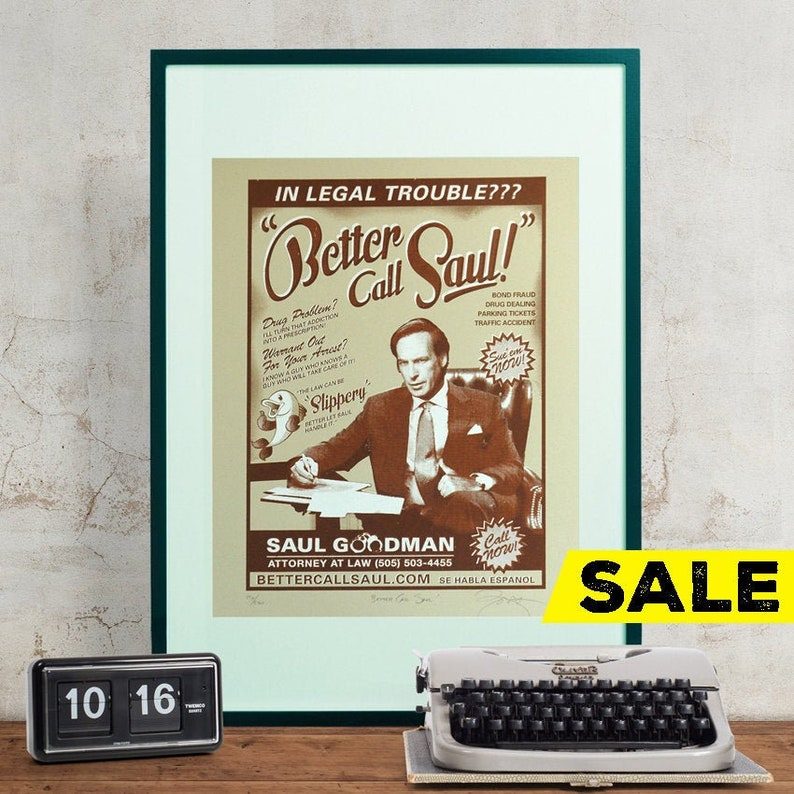 Breaking Bad 'Better Call Saul' Hand Pulled Limited image 0