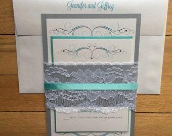 Jennifer and Jeffrey II// Destination Wedding Invitation