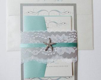 Jennifer and Jeffrey//Destination Wedding Invitation
