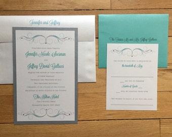 Jennifer and Jeffrey III// Destination Wedding Invitation