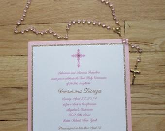 Victoria & Lucrezia//Communion invitation