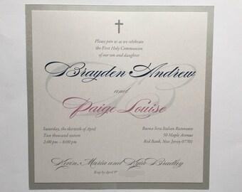 Brayden and Paige// Communion invitation