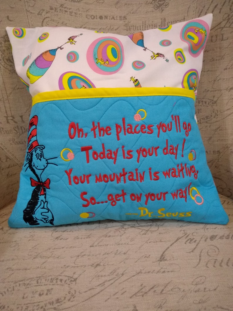 Dr. Seuss  Oh The Places You'll Go  Reading Pillow  image 0