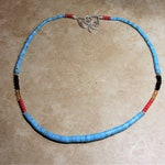 Nacozari Turquoise Heishi Necklace,'Saguaro', Special Order for Rolo