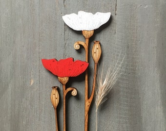 Hand Painted Flowers  -  Poppies