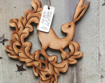 A Winter Hare Yuletide Decoration