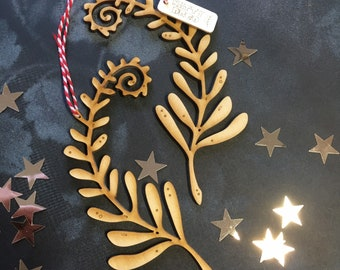 A Pair of Small Festive Fern Decorations
