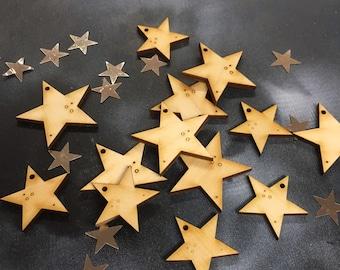 A Dozen Pretty Birchwood Stars