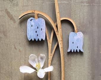 Wooden Flowers. Beautiful Hand Painted Birchwood Flowers - Fritillaries