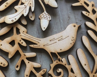 A Beautiful Birchwood Songbird Rondel in Natural Finish with Free U.k. Delivery