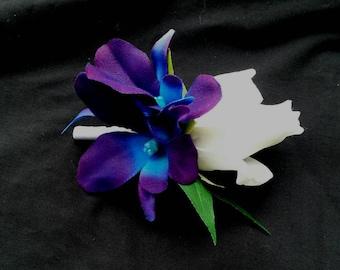 Purple Blue Orchid Etsy