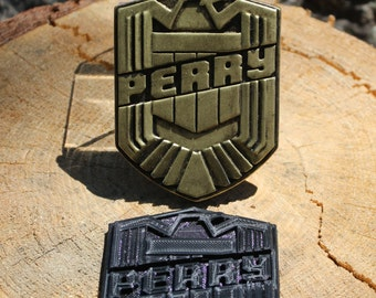 Custom  3D Print Judge Dredd Badge