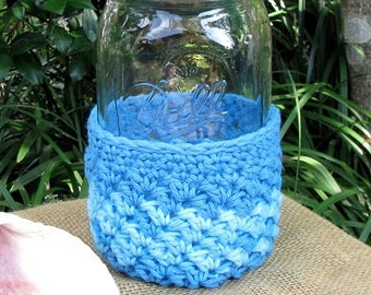 Half Cozy made for Quart size Mason jar - cup - drinking glass - gift container