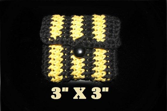 Unique en son genre; Entreprise poche - pochette - sac à main... Jaune et noir - respectueux de l'environnement