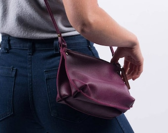"Handmade crossbody handbag - ""Bea"" leather bag"