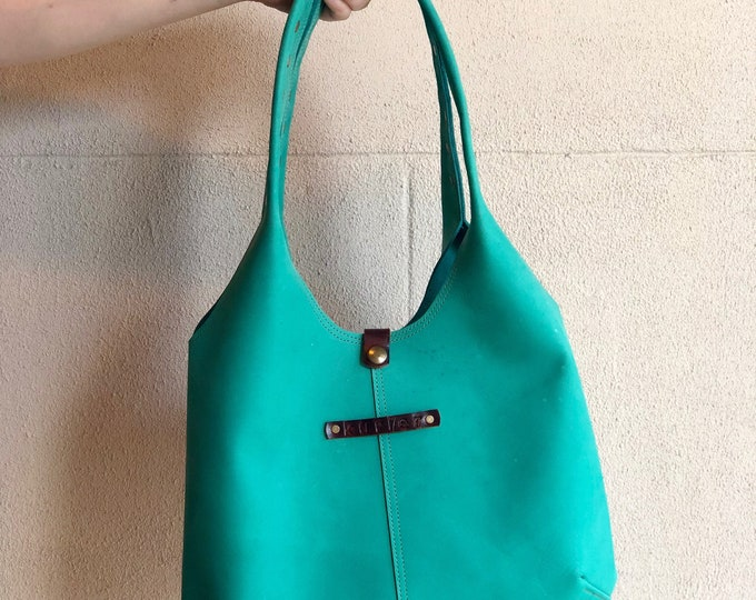"""One of a Kind Hobo in """"lagoon green"""""""
