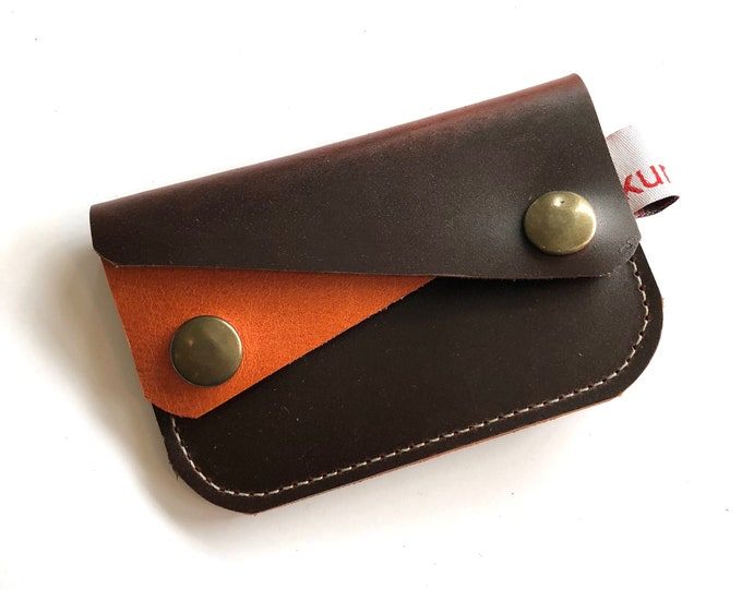 BROWN W/ ORANGE River wallet