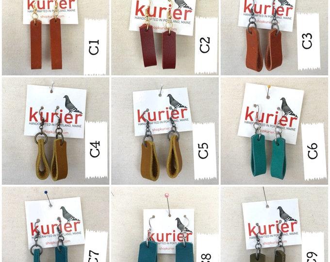 Unique leather earrings -basics