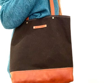 MARY JANE waxed canvas day tote