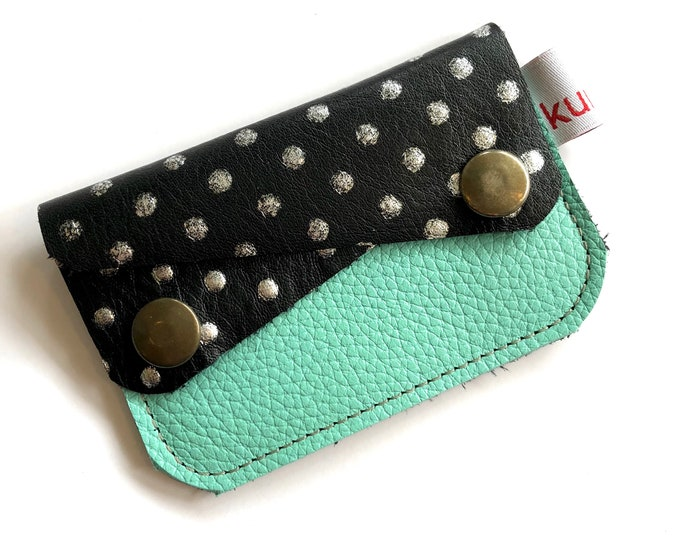 POLKA DOT W/MINT River wallet