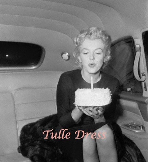 Marvelous Marilyn Monroe Birthday Cake With Glittery Candle Custom Etsy Personalised Birthday Cards Paralily Jamesorg