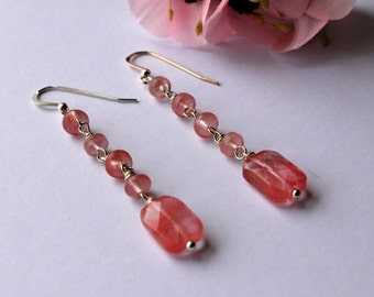 Cherry Quartz Earrings