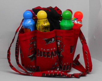 Tampa Bay Buccaneers Bingo Bag. Great birthday, Christmas or Mother s Day  gift Great Drawstring Craft or Makeup Organizer 3a37123fc5