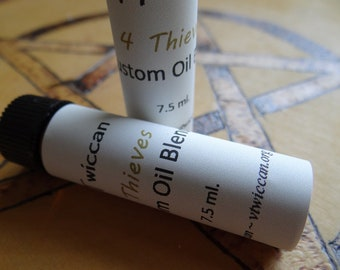 Custom 4 Thieves 100% Natural Custom Oil Blend MANY USES! Wiccan Pagan Ritual Oil