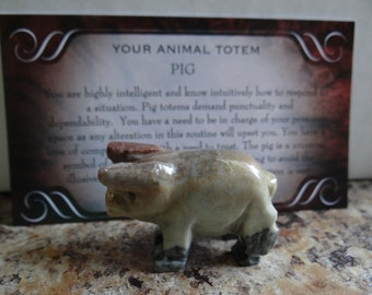 Hand Carved *PIG* Animal Spirit Totem for Spiritual Jewelry or Crafts