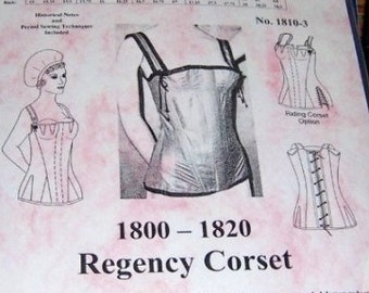 26c49ecd6c8 Regency Corset Pattern. Plus and Multi Sized Sewing Pattern for 1800 - 1820