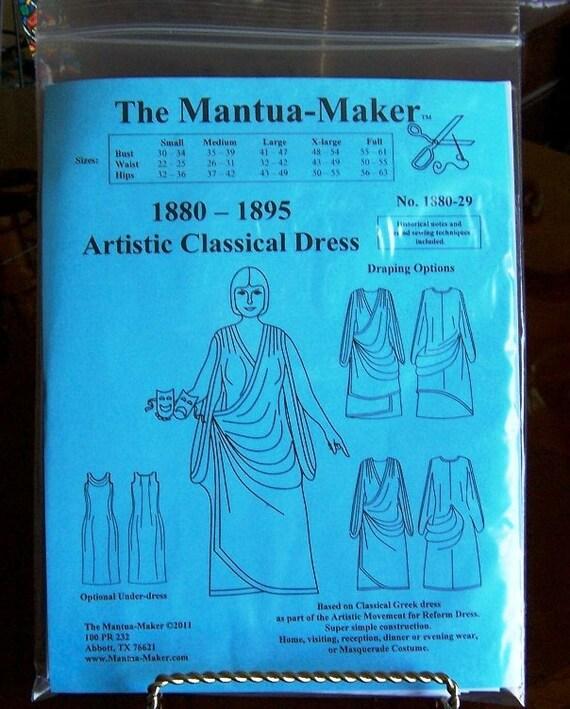 Viktorianischen Kleid Schnittmuster. Künstlerische klassische | Etsy