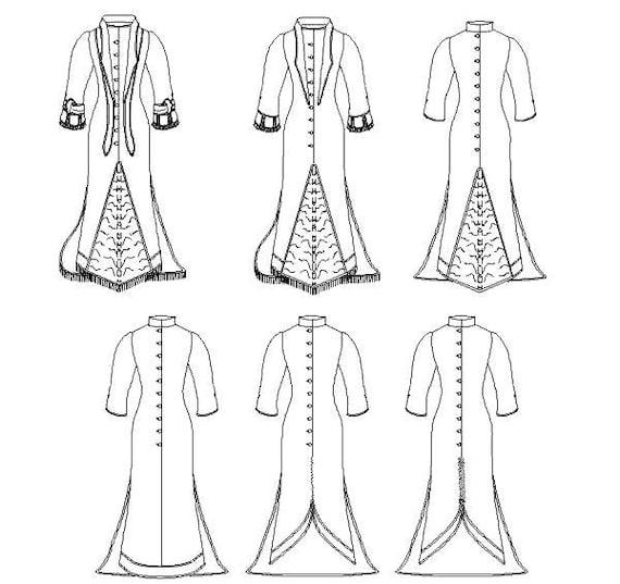 Viktorianischen Polonaise historisches Kleid Schnittmuster für   Etsy
