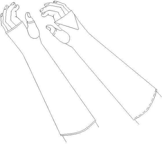 Fingerless Mittens / Gloves Regency Multi Sized Sewing Pattern ...