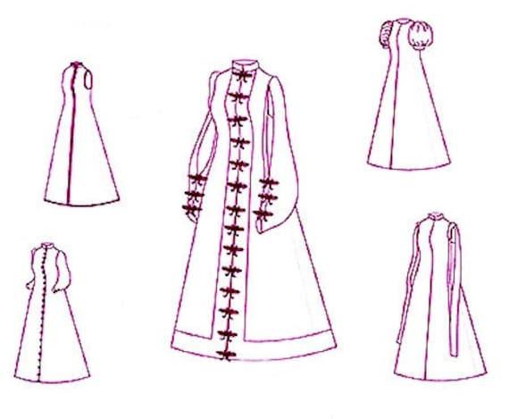 Renaissance Spanisch lose Kleid historischen Schnittmuster für   Etsy