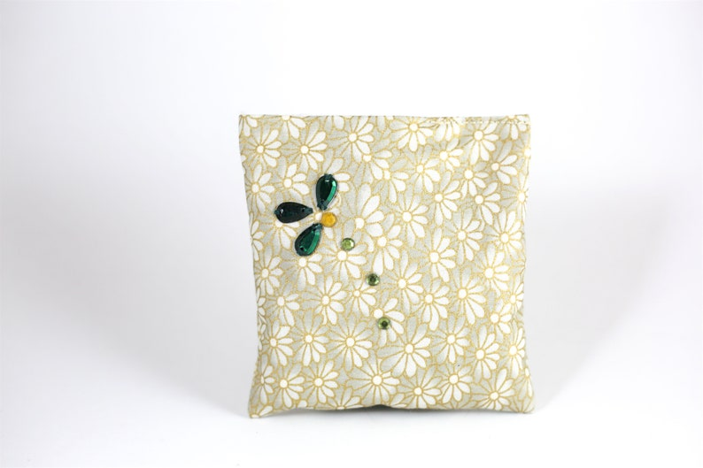 Reuseable Buy just 1 or Buy 3 Get 1 Free!! Hand Beaded Cotton Lavender Sachet