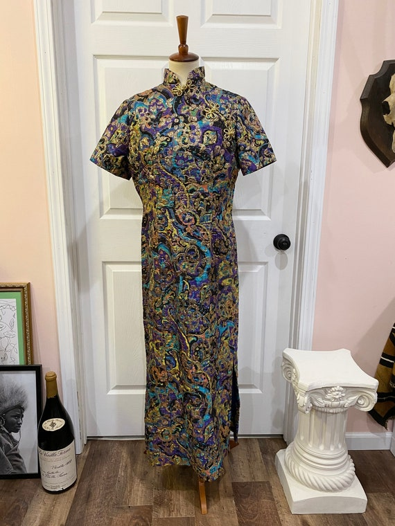 Vintage 1960s Cheongsam Asian Dress