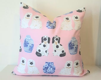 Staffordshire Dog Pillow Cushion Cover.