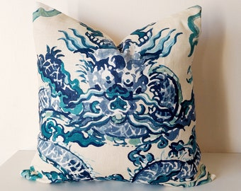 Jim Thompson Enter the Dragons Chinoiserie Pillow Cushion Cover