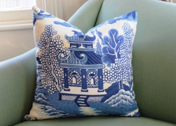 lee jofa willow pattern blue