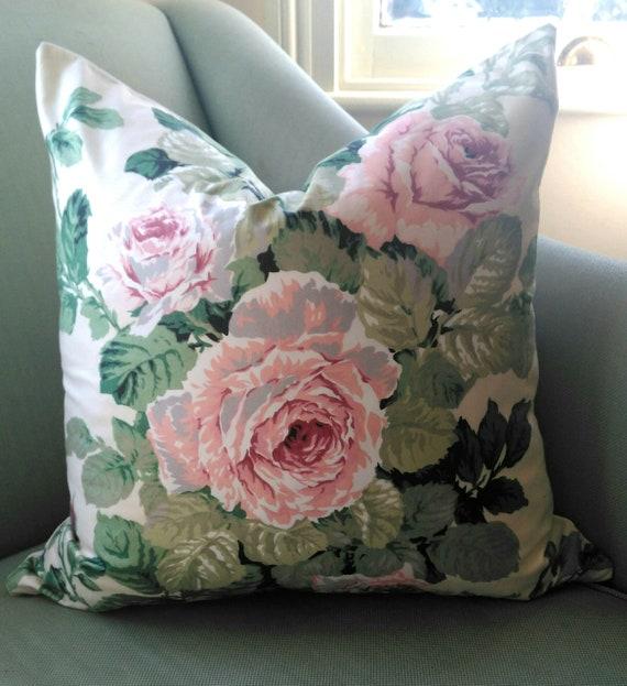 Rose Cummings Cabbage Rose Pillow